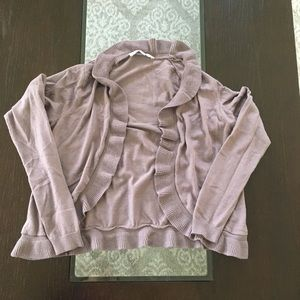 🎉(5 for $8) gray-purple slightly cropped cardigan